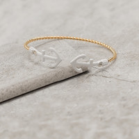 Sail Away Anchor Cuff - White