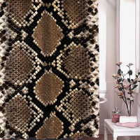snakes textures shower curtain adorabel batheroom hane made
