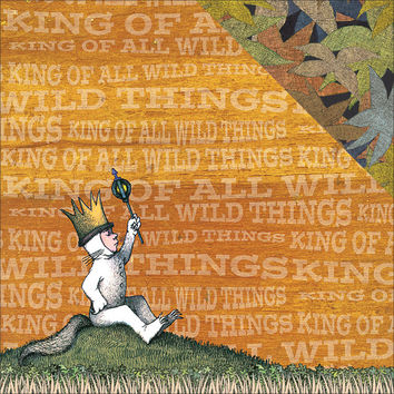 """NEW! Where The Wild Things Are Double-Sided Cardstock 12""""""""X12""""""""-Max"""