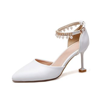 Pointed Toe Ankle Strap High Heels Sandals Summer Shoes 2319