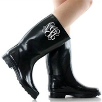 Walking on Sunshine Rain Boots - Black