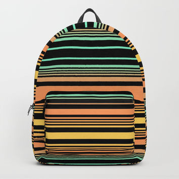 Summer Stripes Backpack by Lyle Hatch