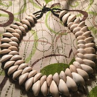 Choker Style Cowrie Shell Necklace w/trade shells by Doorstoafrica