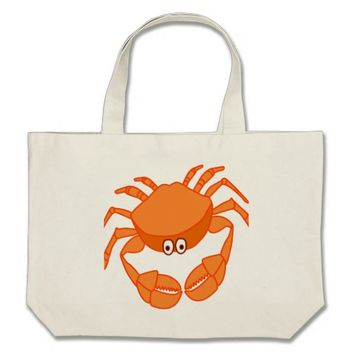 Large Tote Bag with crab!