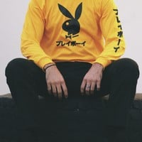 Gold Japanese Rabbit Long Sleeve