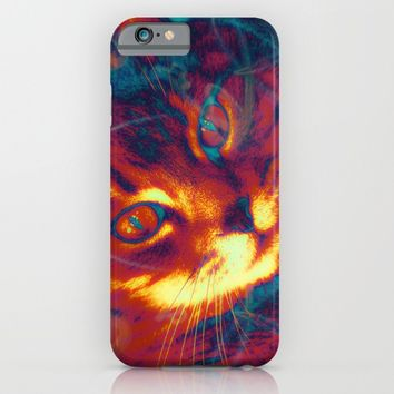 Heat Signature of the Gamma Ray Cat  iPhone & iPod Case by Distortion Art
