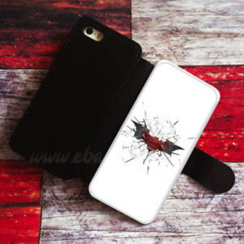 Cracked Glass Wallet iPhone cases Superman Samsung Wallet Batman Phone Case