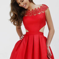 Sherri Hill 9756 Short Satin Homecoming Dress