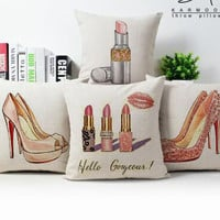 Red Bottom Lipstick Pillowcover