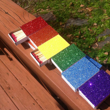 10 Rainbow Flag  Matchbox Wedding Favors