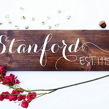 CHIRSTMAS XMAS UNIQUE gift- Beautiful Keepsake gifts for newlyweds young new couple wedding anniversary-Calligraphy custom Family last name living room wall decor .sign#38
