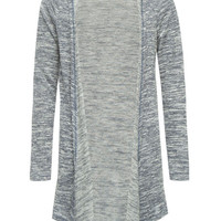 Full Tilt Essential Girls Hooded Hachi Wrap Sweater Blue Combo  In Sizes