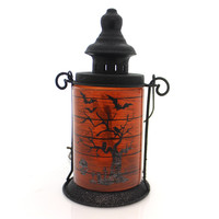 Stony Creek Lighted Metal Lantern Halloween Decor