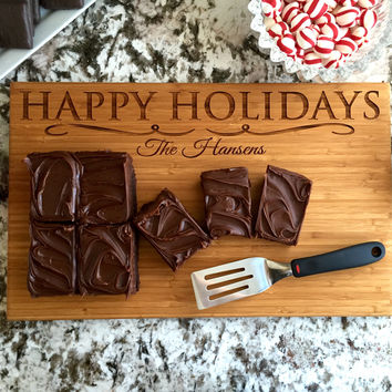 Personalized 11x17 Christmas Bamboo Cutting Boards – 3 Designs!