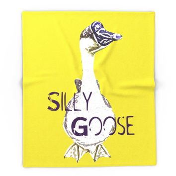 Society6 Silly Goose African Goose Geese Pop Art Photo Blanket