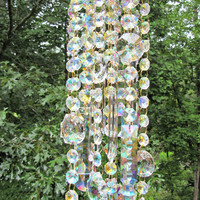 AB Crystal Wind Chime, Crystal Sun Catcher, Anniversary Gift, House Warming Gift, Gift for Her, Garden Accent, WC 127
