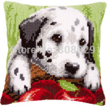 CX0002, Crafts Cushion Printed Cross Stitch Kits Tapestry pillow KIT Home Decorative Pillows Needlework cushion