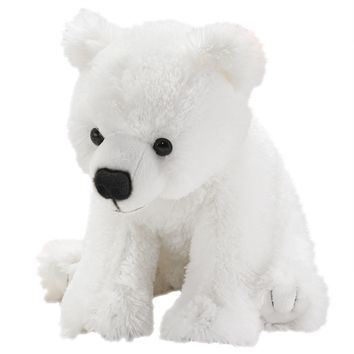 13 Inch Polar Bear Cub Stuffed Animals Floppy Arctic Conservation Collection