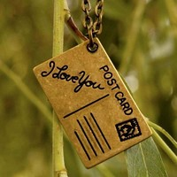 Brass Love Note Necklace - RagTraderVintage.com
