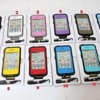 NIB Water Shock proof Case Cover for Lifeproof  iPhone 4 4s