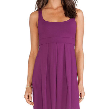 Susana Monaco Tank Pleat Dress in Wine
