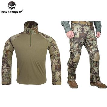 Hunting clothes Emersongear G3 Combat uniform shirt  Pants with knee pads Airsoft Emerson Military Camouflage Mandrake