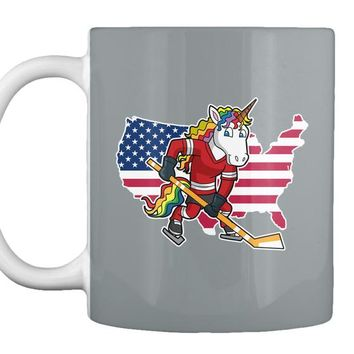 Unicorn Usa Hockey Player