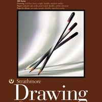 "Strathmore Medium Drawing Spiral Paper Pad 9""X12"", 24 Sheets"