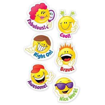 SMILEY FACES STICKERS 60 PC
