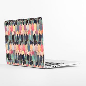 Colored Stained Glass Laptop Skin
