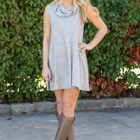 One Step Forward Dress - Grey