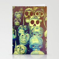 skulls Stationery Cards by Marianna Tankelevich
