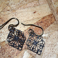 Brass Antique Look Earrings