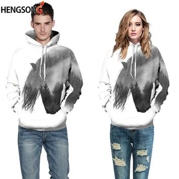 Lovers Couples Fitness Hoody 3D Printing Pullovers Women Men Sports Hoodies With Pocket Hooded Sports Coat Sudadera