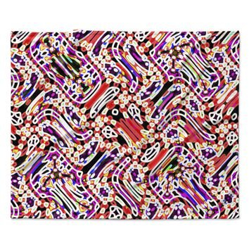 "Dawid Roc ""Camouflage Pattern 2"" Multicolor Abstract Fleece Throw Blanket"