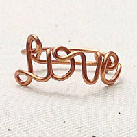 Custom Wire Love Ring (MADE TO ORDER) Copper Ring, Silver Ring, Gold Ring, Monogram Ring, Personalized Ring, Custom Ring, Sorority Ring