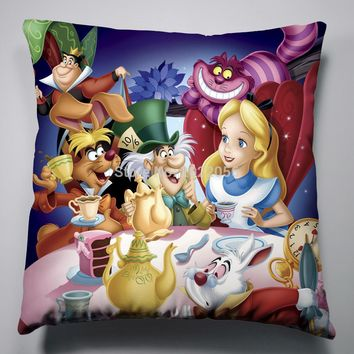 Anime Manga Alice In Wonderland Pillow 40x40cm Pillow Case Cover Seat Bedding Cushion 003