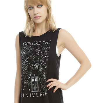 Doctor Who Explore The Universe Girls Muscle Top