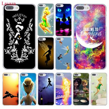 Lavaza Tinkerbell Tinker Bell Hard Coque Shell Phone Case for Apple iPhone 8 7 6 6S Plus X 10 5 5S SE 5C 4 4S Cover