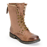 Roxy Concord Brown Leather Boots at Zumiez : PDP