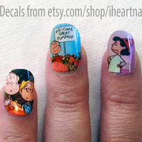 Charlie Brown Pumpkin Nail Decals