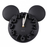 LOCOMO Modern Design Mickey Mouse Big Digit 3D Wall Clock Home Decor Decoration:Amazon:Home & Kitchen