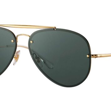 Authentic RAY-BAN 3584N - 905071 Sunglasses Blaze Aviator / Green *NEW* 58mm