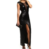 Black Sequin Homecoming Dress