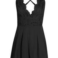 Lila Crochet Strappy Cami Playsuit