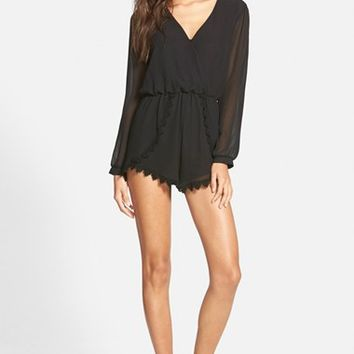 Women's ASTR Lace Trim Romper