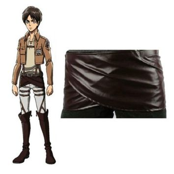 LMFUG3 Cos cosplay Attack on Titan Shingeki no Kyojin Levi mikasa Leather skirt hookshot costume = 1946998532