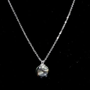 Floating Bottle Promise Pendant Necklace