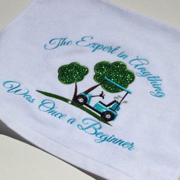 Golf Towel, Custom Golf, Golf Cart, Clubs, Golf Saying, Sweat Towel, Sports Towel, Personalized Golf, Golf Cart, Hand Towel