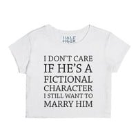 Fictional Husband-Female Snow T-Shirt